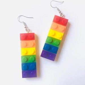 Jewelry - Multicolor Lego Earrings
